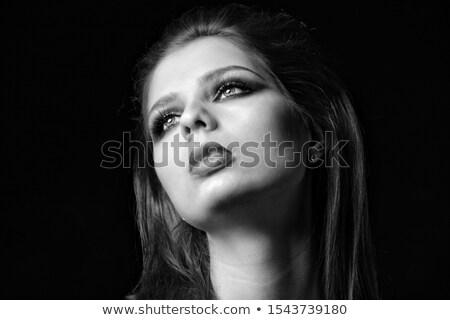 Képzőművészet smink lenyűgöző lány fiatal nő szexi Stock fotó © konradbak