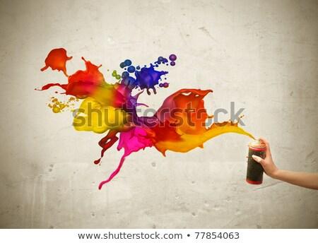 Trois couleurs larmes yeux jeune femme Photo stock © carlodapino