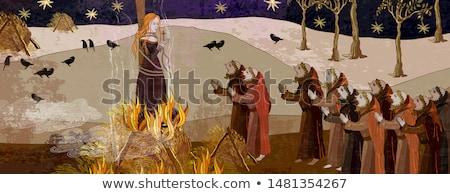 Witch punishment Stock photo © Novic