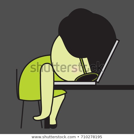 zakenvrouw · bureau · moe · business · jonge · slaap - stockfoto © vankad
