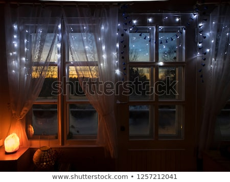 salt lamp over white Stock photo © taviphoto