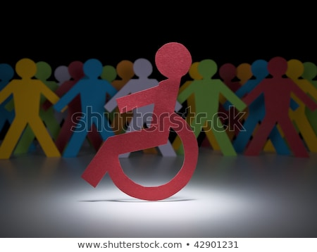 Stock photo: Handicap paper people