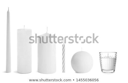 Candle isolated on white Stock photo © ozaiachin