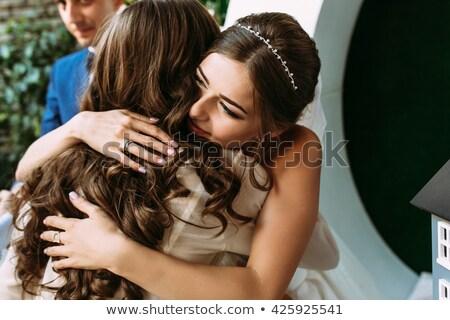 Noiva dom azul jóia menina mão Foto stock © samsem