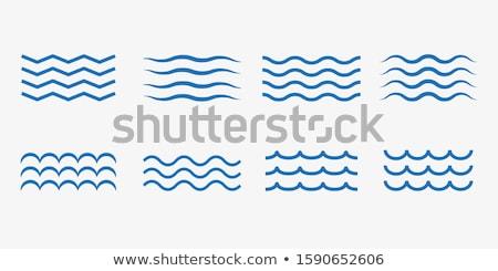 Set of wave symbols for design Stock photo © m_pavlov