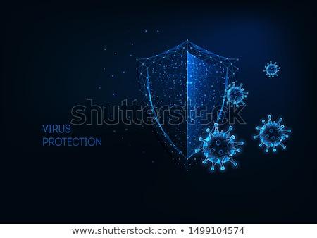 Stockfoto: Digitale · illustratie · virus · abstract · gezondheid · geneeskunde · leven