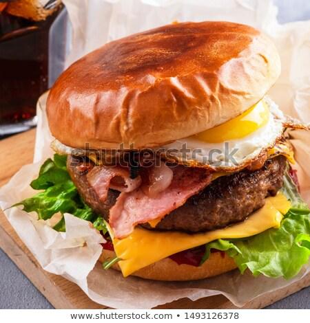 Burger · görmek · yalıtılmış · beyaz · arka · plan - stok fotoğraf © przemekklos