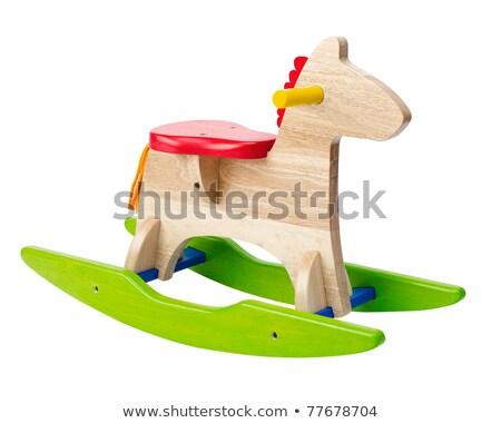 Cute rocking horse chair children could enjoy the riding Stock photo © JohnKasawa