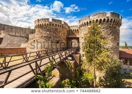 Belgrado · velho · castelo · Sérvia · grama · relógio - foto stock © badmanproduction