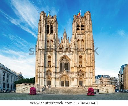 Foto stock: Catedral · Bruxelas · impressionante · Bélgica · cidade