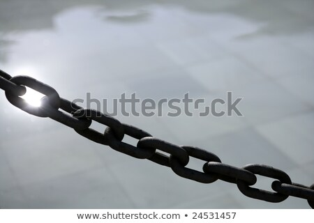 chain outdoor with water tiles and reflexion stock photo © lunamarina