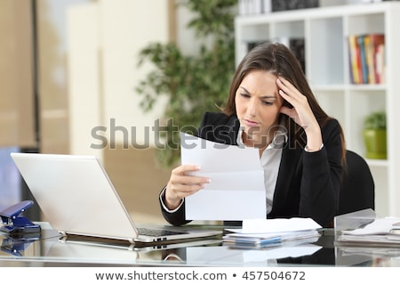frustrated business woman stock photo © fantasticrabbit