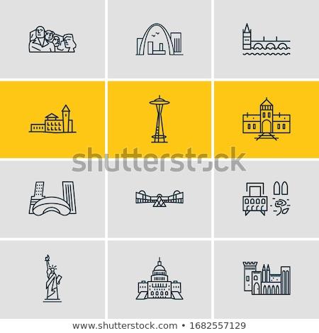 Icon stempel briefkaart Polen gestileerde Stockfoto © Myvector
