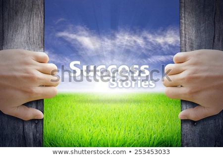 coaching   billboard on the sunrise background stock photo © tashatuvango