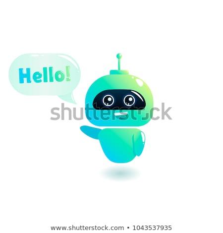 Cute Robot greeting and saying Hi Stock photo © Kirill_M