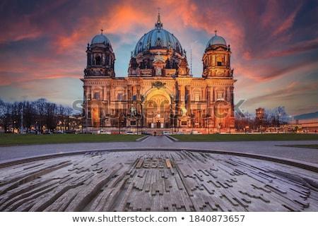 Berlin cathédrale plaisir jardin fontaine parc Photo stock © inarts
