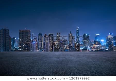 Bangkok városkép sziluett színes éjszaka Thaiföld Stock fotó © joyr
