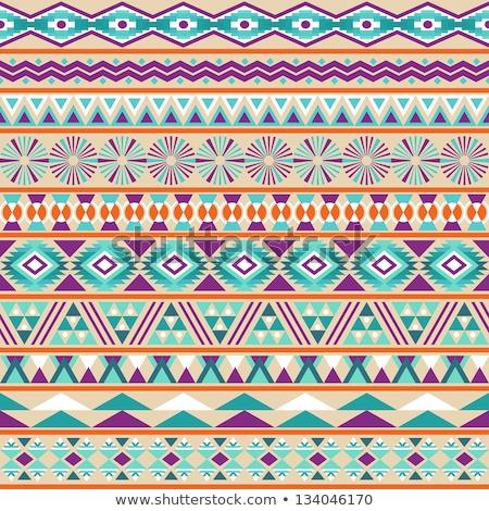 Mor yerli süs beyaz soyut dizayn Stok fotoğraf © TRIKONA