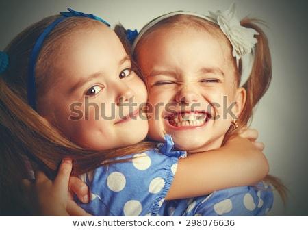Kinder · Schwester · Freunde · kid · Mädchen · spielen - stock foto © lunamarina