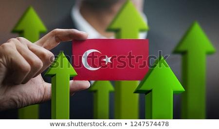 Turkish Businessman holding business card with Turkey Flag Stock photo © stevanovicigor