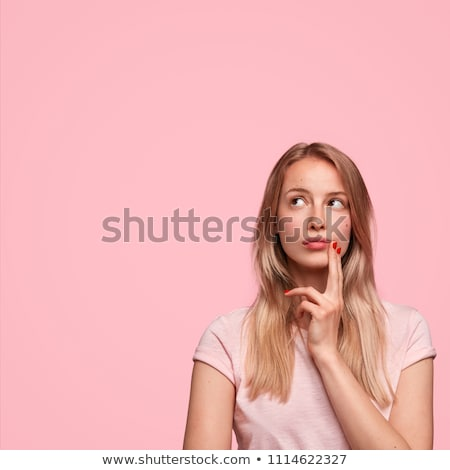 Portrait of beautiful woman questioning Stock photo © stevanovicigor