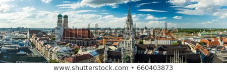 Panorama Münih kilise yön bmw Bina Stok fotoğraf © faabi