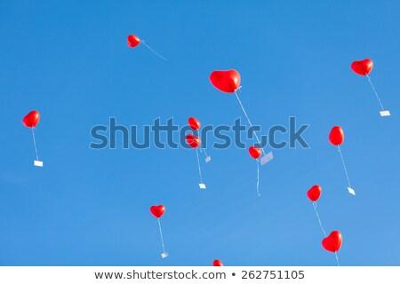 шаре · красный · Blue · Sky · любви · здоровья · фон - Сток-фото © meinzahn