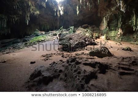Grot rock steen Mexico platteland verlicht Stockfoto © prill