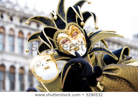 A joker with his mask at the Venice Carnival Stock photo © raphotos