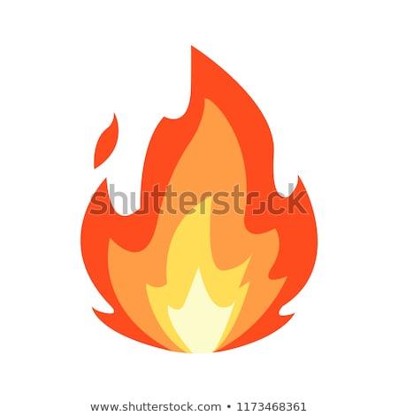 火災 孤立した 黒 背景 赤 色 ストックフォト © cookelma