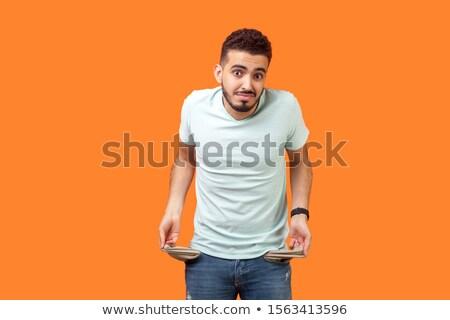 Mão vazio bolso branco homem camisas Foto stock © mizar_21984