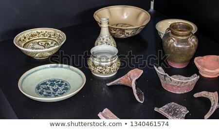Aromático tailandés té cerámica plato naturaleza Foto stock © nalinratphi