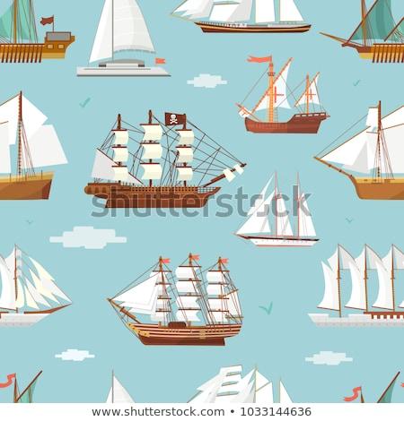 Velho navio enferrujado pescaria barco Foto stock © trexec