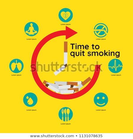 Сток-фото: время · остановки · курение · иллюстрация · сигарету · плохо
