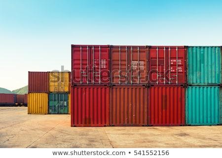 Magazzino logistica rosso metal contenitore bianco Foto d'archivio © tashatuvango