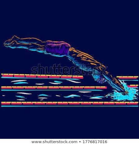 úszik bajnok illusztráció lány sportok úszómedence Stock fotó © adrenalina
