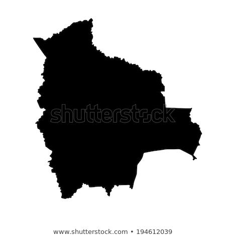 Sziluett térkép Bolívia felirat fehér felirat Stock fotó © mayboro