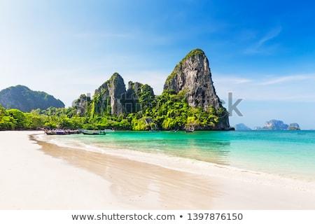 tengerpart · Krabi · Thaiföld · víz · nyár · óceán - stock fotó © weltreisendertj