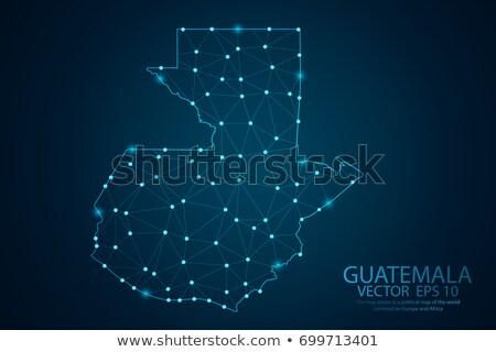 Mapa Guatemala ponto padrão vetor imagem Foto stock © Istanbul2009