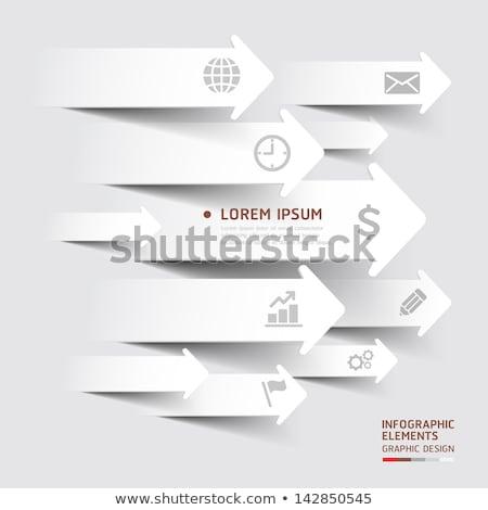 紙 異なる 孤立した 白 ストックフォト © romvo