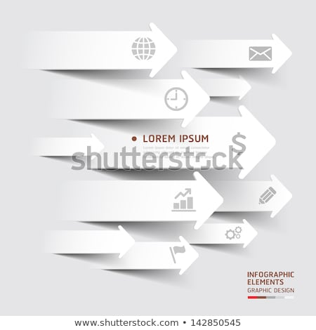 Papel flechas diferente aislado blanco Foto stock © romvo