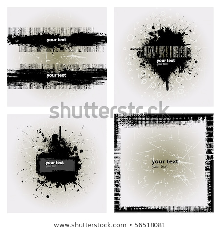 Dribbelen grunge banner achtergrond print silhouet Stockfoto © Viva
