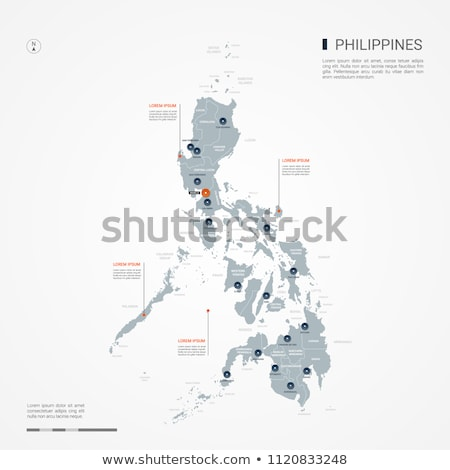orange button with the image maps of Philippines Stock photo © mayboro