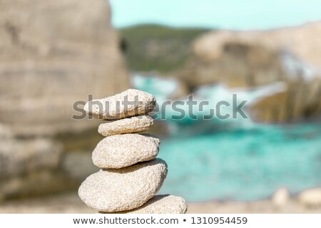stack of balanced stones in Ibiza Island, Spain Stock photo © nito