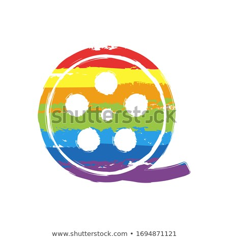 Stockfoto: Colorful Film Strip Icon Vector