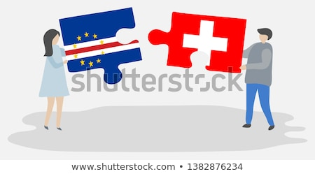 Switzerland and Cabo Verde Flags Stock photo © Istanbul2009
