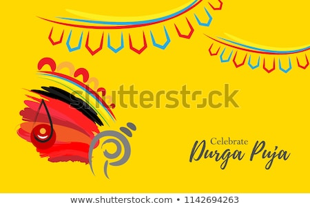 abstract colorful artistic durga background stock photo © pathakdesigner