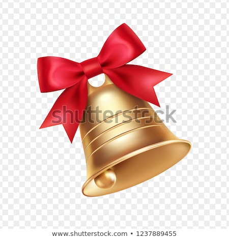 Christmas bells isolated on white background stock photo © teerawit