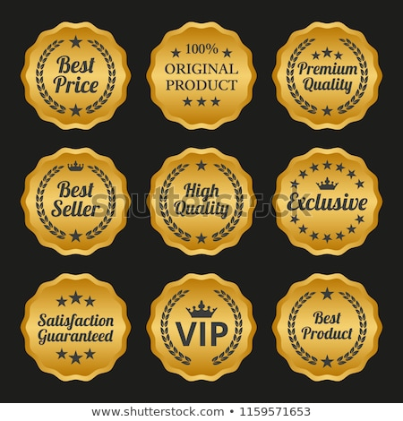 Limited Collection Golden Vector Icon Button Stock photo © rizwanali3d