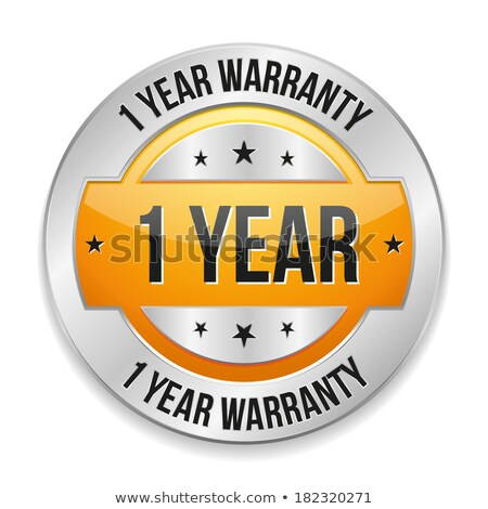 1 year warranty yellow vector icon button stock photo © rizwanali3d